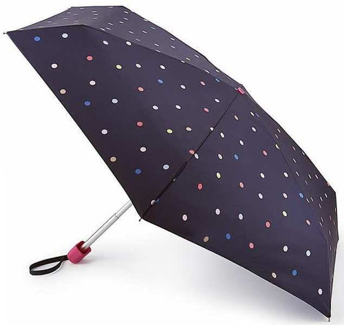 Joules Ping Pong Spot Tiny Folding Umbrella Matching Cover Handbag Size Fultons