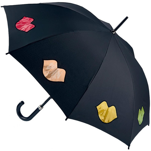 Lulu Guinness Rainbow Lips Kensington Walking Umbrella 88cm Long Fultons Brolly