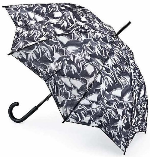Fulton Satin Dream Star Shape Kensington Walking Umbrella Crook Handle
