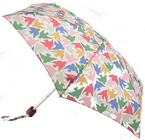 Cath Kidston Small Graphic Bird Tiny Folding Umbrella & Cover Handbag Size