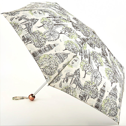 Cath Kidston London Toile Minilite Folding Umbrella & Cover Handbag Size