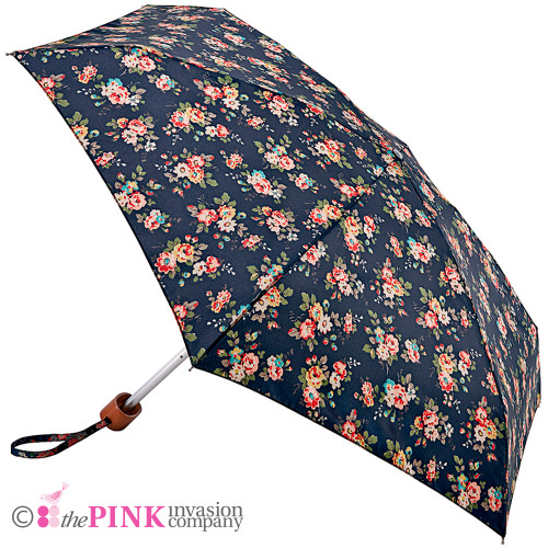 CATH KIDSTON KINGSWOOD ROSE CHARCOAL TINY HANDBAG SIZE UMBRELLA & GIFT BOX