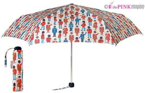 CATH KIDSTON GUARDS AND FRIENDS MINILITE HANDBAG SIZE FOLDING UMBRELLA & COVER