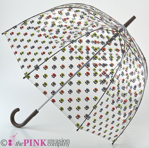 ORLA KIELY DESIGNER MULTI FLOWER OVAL BIRDCAGE WALKING UMBRELLA