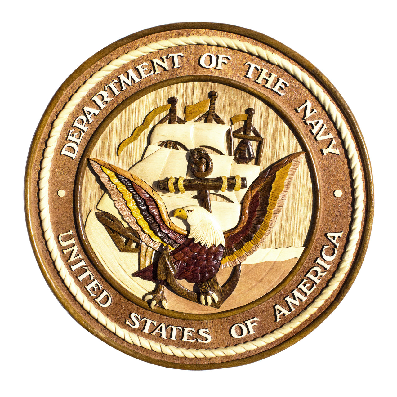U.S. Navy Insignia Wall Decor - Aloha Wood Art