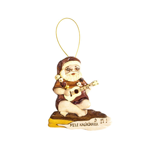 Ukulele Santa - Ornament