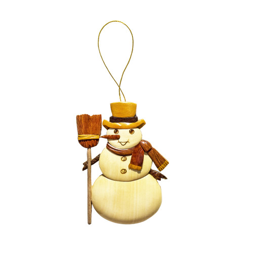 Traditional Snowman - Ornament