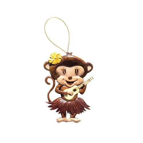 Ukulele Monkey Girl - Ornament