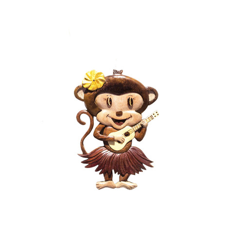 Ukulele Monkey Girl - Magnet