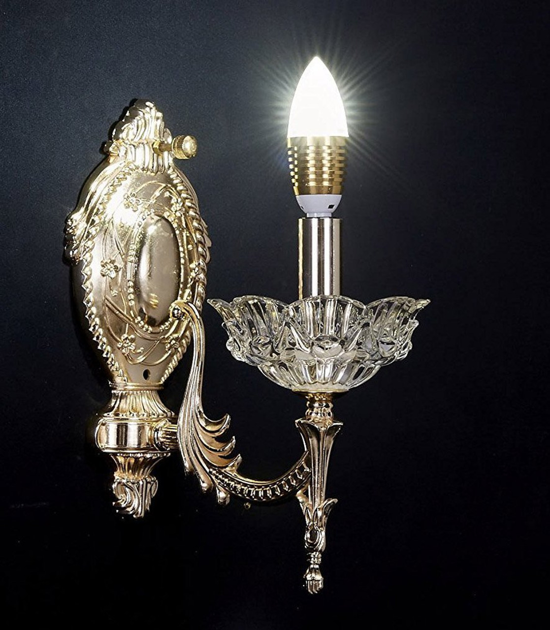 wall chandelier and style extraordinary gustavian pier bronze of crystal swedish design one sconce candle
