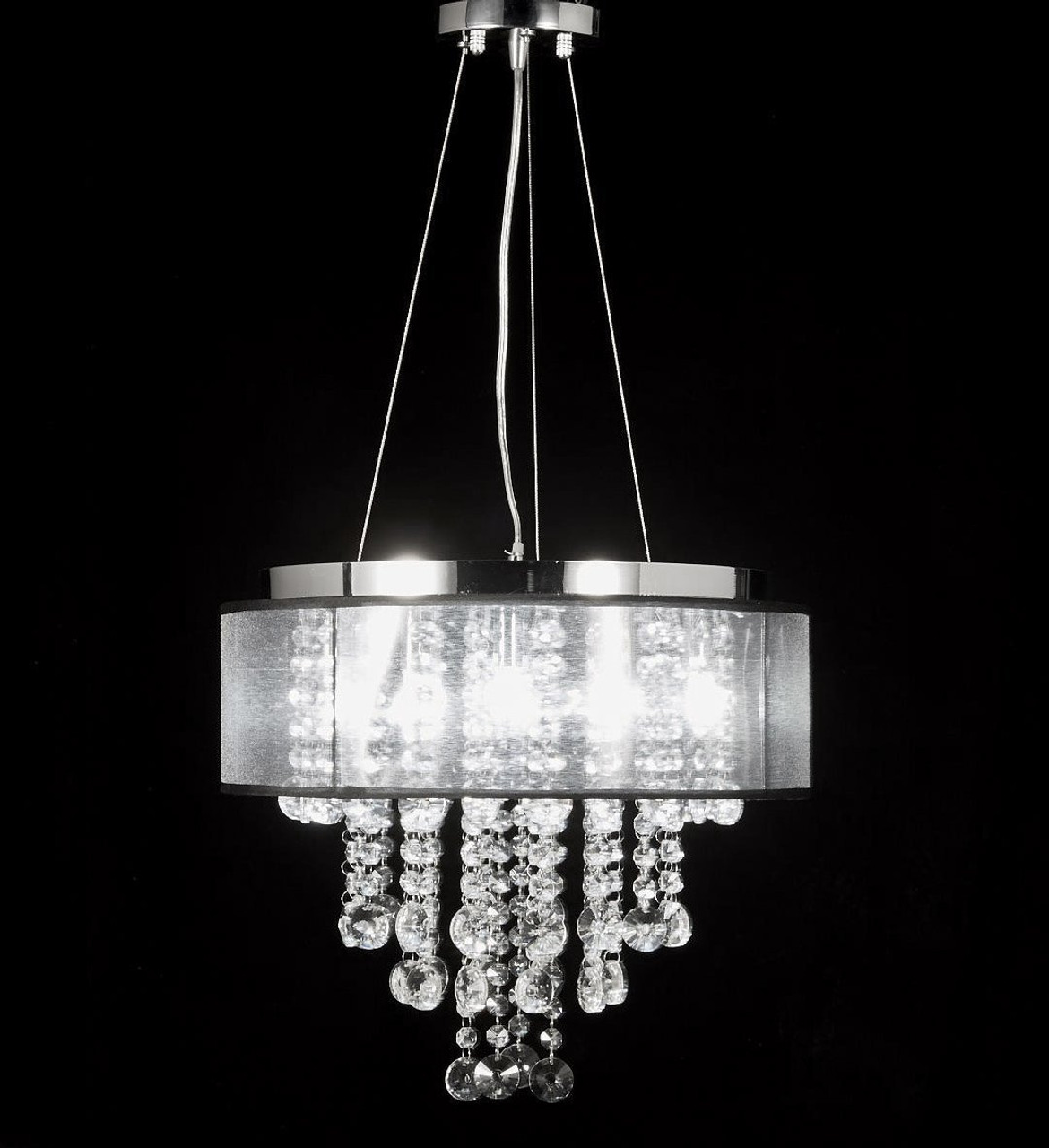 product crystal black arm chandelier pendant lighting by tie chandeliers glow