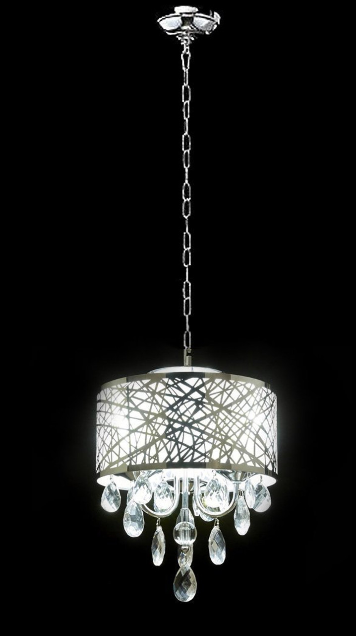 Diamond life 3 light chrome round metal shade crystal chandelier diamond life 3 light chrome round metal shade crystal chandelier pendant hanging ceiling fixture aloadofball Choice Image