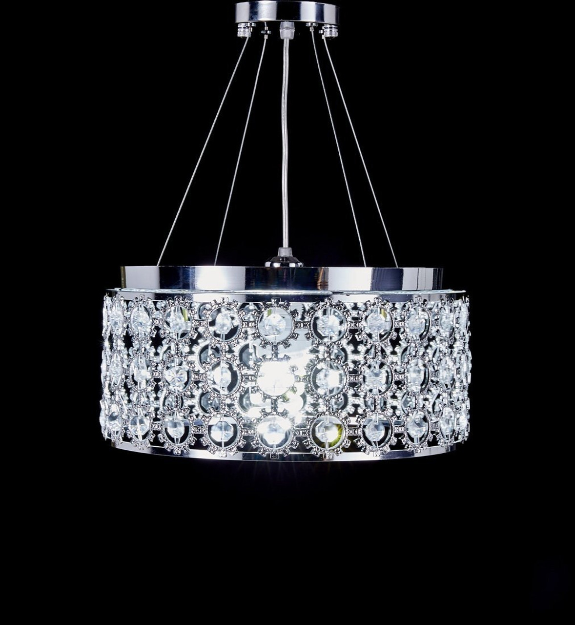 lights remote light crystal itm pendant chandelier room s living ceiling control