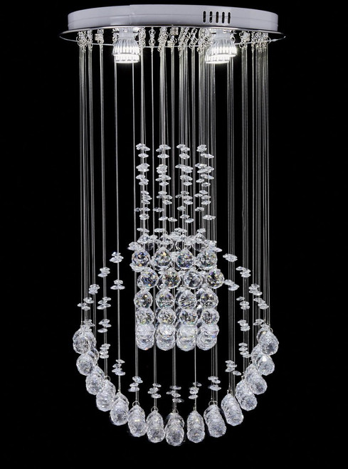 Diamond Life Modern Rain Drop Led Chandelier With Crystal Ceiling Lighting Fixture W16 Xl16