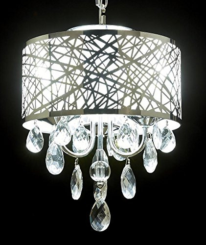 Diamond life 3 light chrome round metal shade crystal chandelier diamond life 3 light chrome round metal shade crystal chandelier pendant hanging ceiling fixture mozeypictures Gallery