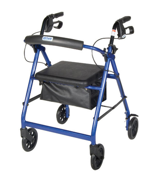 Drive Medical Aluminum Rollator with Fold Up and Removable Back Support DMR726