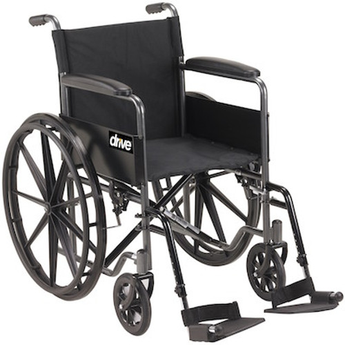 Drive Medical Silver Sport 1 Single Axle Wheelchair