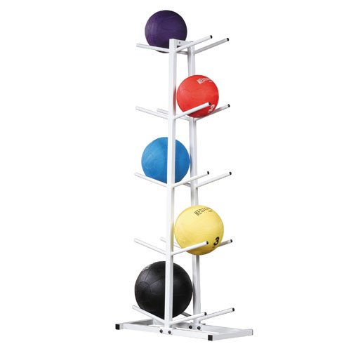 Double Tier Vertical Medicine Ball Tree - Whtie