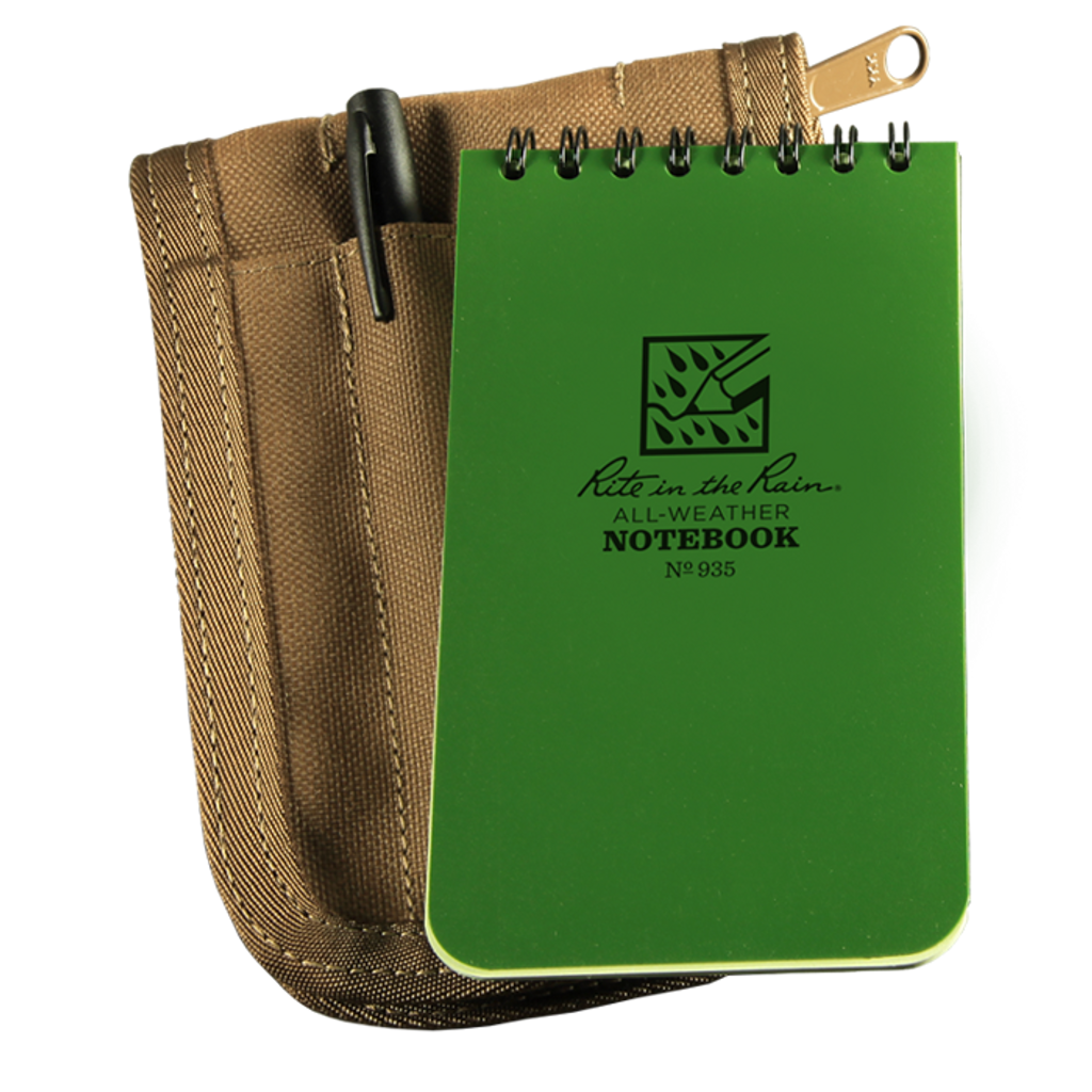 935G KIT - Tactical Notebook Green w/ Cover & Pen