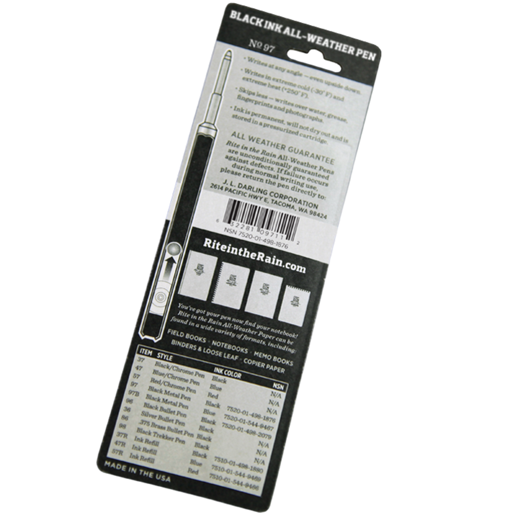 97 Tactical Clicker All-Weather Pen Black Ink