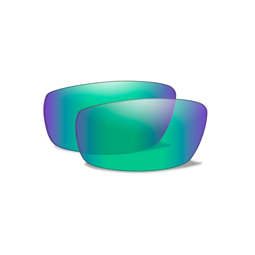 Echo | Polarised Emerald Mirror Lens w/ Gloss Black Frame