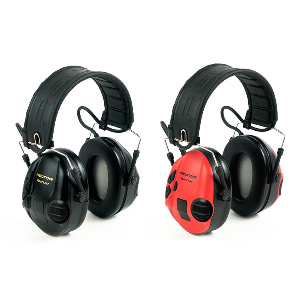 SportTac Headset Earmuff Red