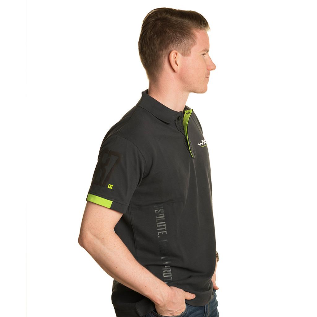 Premium Polo Charcoal w/ Flash Green