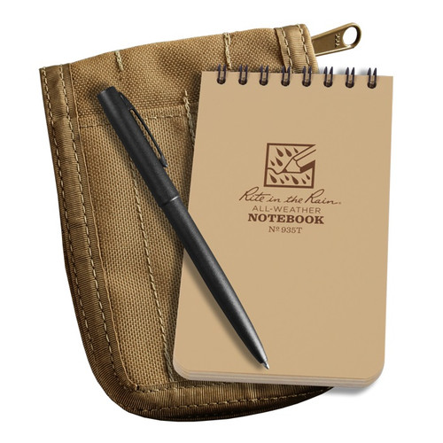 935T KIT - Tactical Notebook Tan w/ Cover & Pen