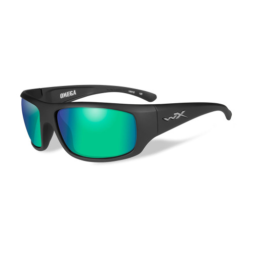 Omega | Polarised Emerald Mirror Lens w/ Matte Black Frame