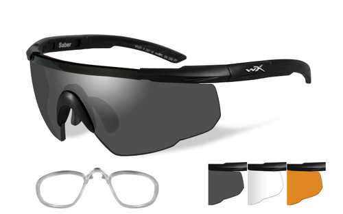 Saber Advanced | Three Lens w/ Matte Black Frame & RX Insert