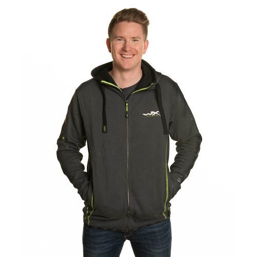 Premium Hoodie Charcoal w/ Flash Green