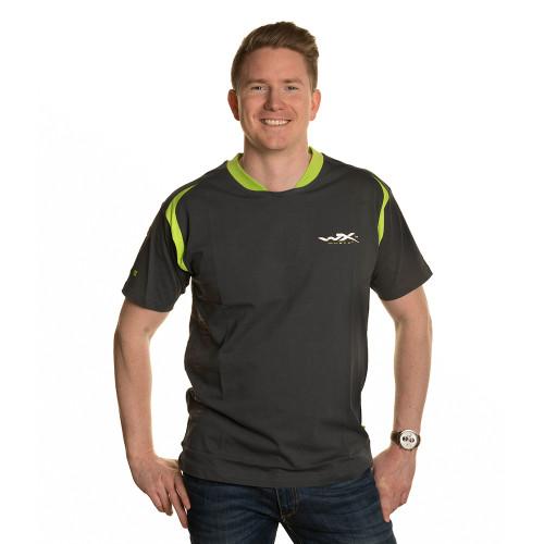 Premium T-Shirt Charcoal w/ Flash Green