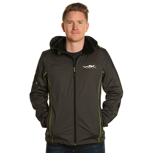 Premium Tech Jacket Charcoal w/ Flash Green