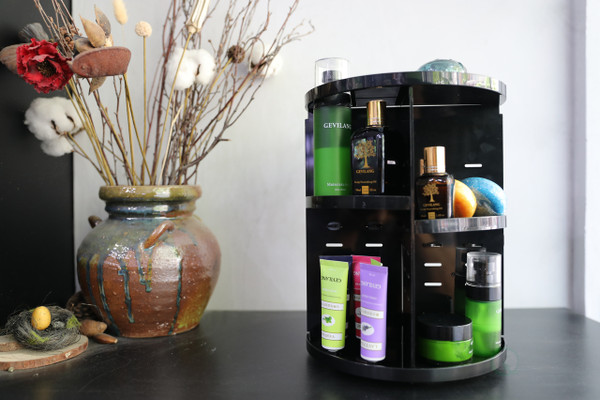 Rotating Cosmetic Storage Tower, Makeup Organizer
