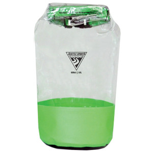 GLACIER CLEAR DRY BAG LIME 10L