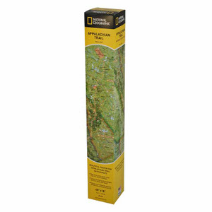 APPALACHIAN TRL WALL MAP BOXED