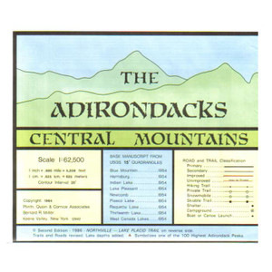 ADIRONDACK MAP CENTRAL MTNS.