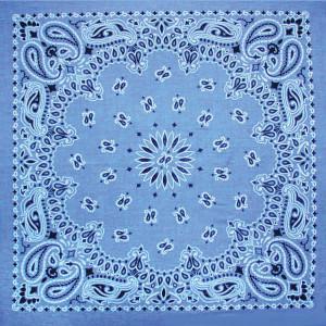 BANDANA CHAM.BLUE w/HNG TG/UPC