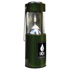 CANDLE LANTERN-ANOD GREEN