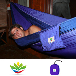 HAMMOCK BLISS DOUBLE BLU/PURPL