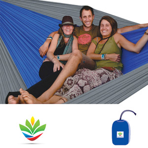 HAMMOCK BLISS TRIPLE BLUE/SILV