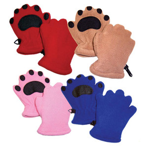 BEARHANDS INFANT RED
