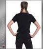 Cherokee Tooniforms I Didn't Do IT Women's V-Neck Short Sleeve Top