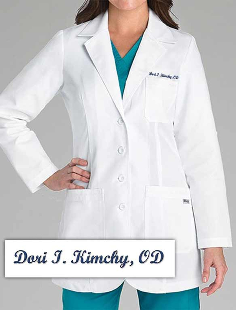 DORI T. KIMCHY Embroidered Labcoat