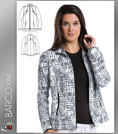 Barco One Accelerate Print Scrub Jacket