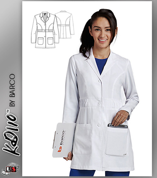 "KD110™ Kenzie 32"" Lab Coat White"
