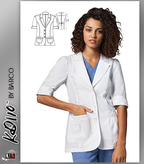 "KD110™ 28"" 2 Pockets Short Sleeve Women's Lab Coat"
