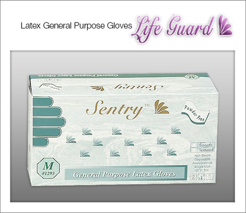 SANITEX General Purpose Latex Gloves - Smooth - 100 Gloves / Box