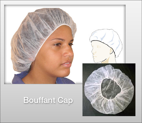 Bouffant Cap - White