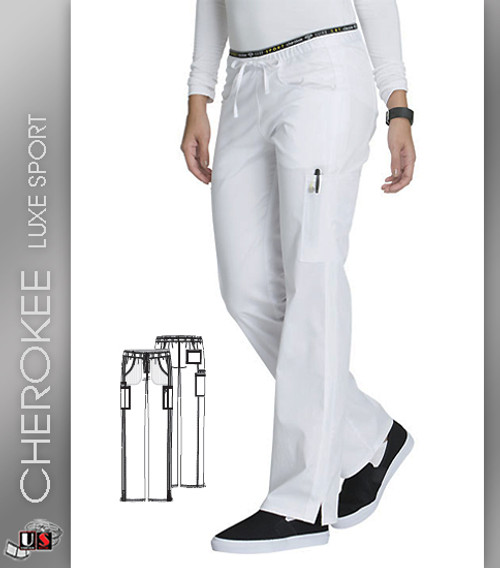 Cherokee Luxe Sport Women's Mid Rise Straight Leg Pull-On Pant